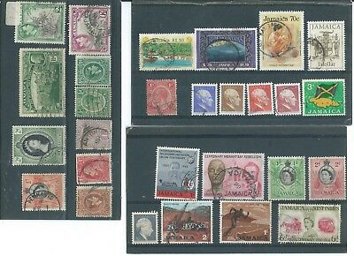 Jamaica Used Stamp Collection