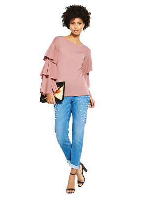 V by Very Tiered Sleeve Snit Top