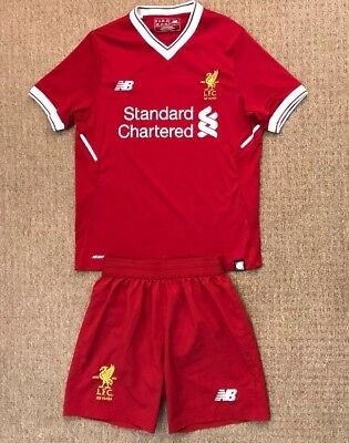 5ffde0304cc BOYS LIVERPOOL HOME football kit size 6-7 years number 19 Mane New ...