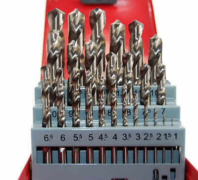 Hss Precision Ground Drill Set Metric 1-13Mm X 0.5 -Suit Lathe User