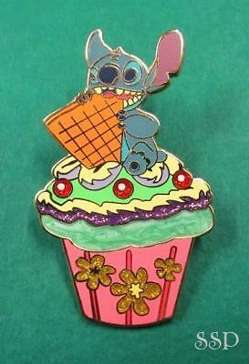 Disney Pin DLRP Cupcakes Booster Set - Stitch Eating a Waffer