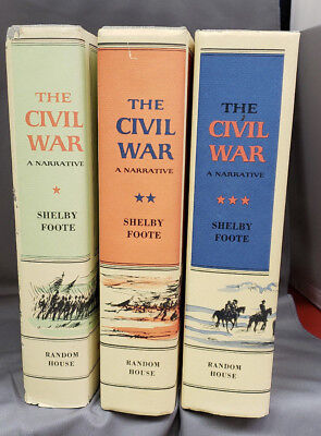 The Civil War A Narrative Three Volumes by Shelby Foote
