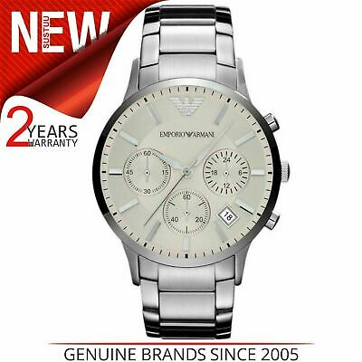 Emporio Armani Sportivo Men's Watch AR2458¦Chronograph Dial¦Stainless Steel Band