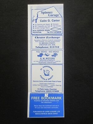 BOOKMARK CHESTER Library 1980s Advertising Il Pomodoro Poynton Deva Insurance
