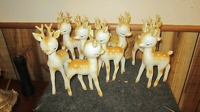 Lot of Various Plastic Vintage Christmas Reindeer