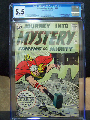 JOURNEY INTO MYSTERY Featuring THE MIGHTY THOR #86 Nov 1962 CGC Graded 5.5