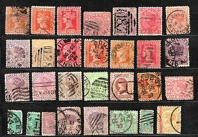 Australia / Victoria Stamps Selection x 29 good used/ fine used  p-92