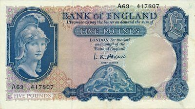 Bank of England Great Britain  5 Pounds    AU - Unc