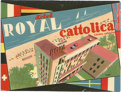 HOTEL ROYAL luggage label (CATTOLICA)