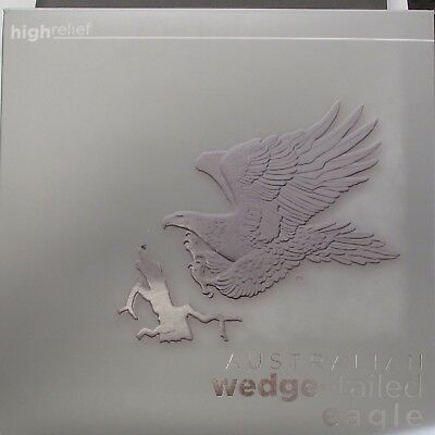 2014 P Australia Wedge-Tailed Eagle High Relief Pcgs Pr 69 Dcam Signed Mercanti