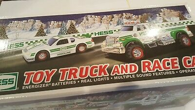 HESS TRUCK  2011 TOY TRUCK & RACE CAR   NEW IN  BOX..NEVER  removed from box...