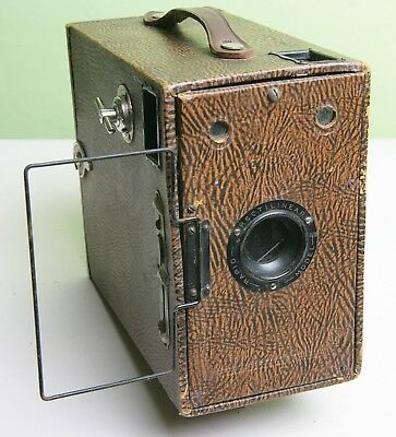 Attractive Brown 'box Ensign 2½' Box Camera - 'rapid Rectilinear' Model