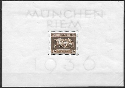 """Germany's 3rd Reich 1936  Mi# 621 Block 4 """"Brown Ribbon of Germany"""" MNH **"""