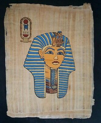 "Egyptian Papyrus Original Hand Painted Made in Egypt 13'' X 17"" KING TUT"