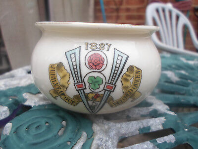 Goss 1887 Queen Victoria Jubilee Crested China Bowl