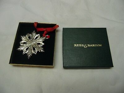 Reed & Barton Pewter Snowflake Christmas Tree Ornament / Number 2