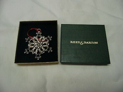 Reed & Barton Pewter Snowflake Christmas Tree Ornament / Number 3