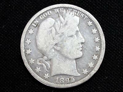"1895O ""better Date"" Barber Half Dollar Estate Coin - Fine To Vf"