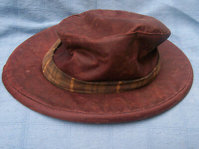 The Oxford Blue Thelma  Hat Chestnut ,(Antique) waxed cotton  hat - old stock