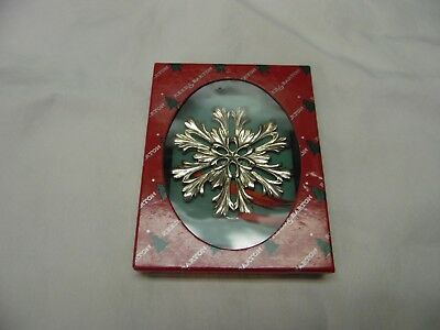 Reed & Barton Pewter Snowflake Christmas Tree Ornament / Number 8 / 1396
