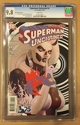 Superman Unchained # 4 Cgc 9.8! March Variant!