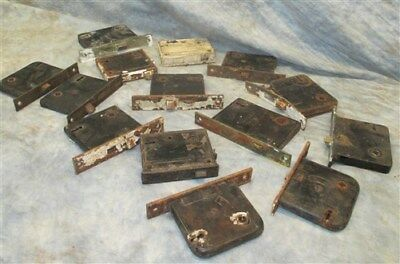 14 Locks Rim Night Latch Dead Bolt Architectural Salvage Door Hardware Mortise g