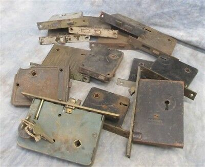 14 Locks Rim Night Latch Dead Bolt Architectural Salvage Door Hardware Mortise n