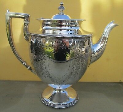 Superb Antique Victorian Sterling silver teapot, 828 grams, 1864