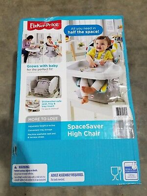 Fisher-Price SpaceSaver High Chair, Multicolor Yellow/Blue/Red Free Shipping
