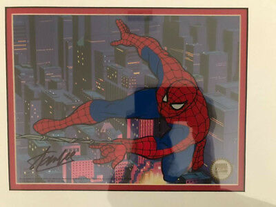 Marvel Spider-Man animation sericel signed by Stan Lee w/ COA