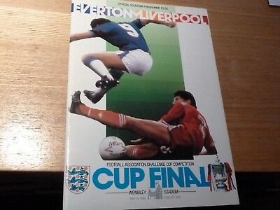 1986 FA CUP FINAL EVERTON V LIVERPOOL (signed)