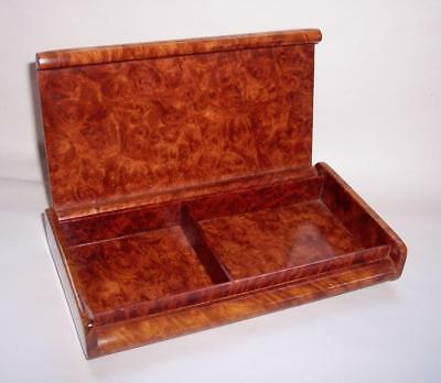BEAUTIFUL Antique/Vintage ART DECO Burl/BURR WALNUT TRINKET/Keepsake BOX