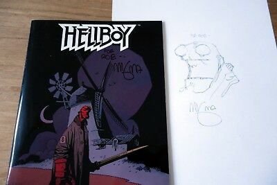 Hellboy, special Dutch Comic Con edition and drawing. Signed by Mike Mignola