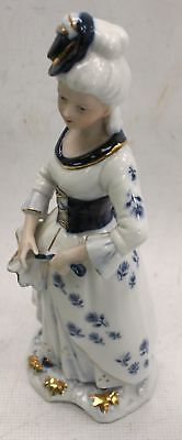 High Quality Woman in Old Fashioned Dress With Parasol Ceramic Ornament - I04