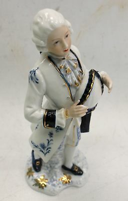 Man In Ornate Old fashioned Suit With Tricorn Hat Ceramic Ornament - I04