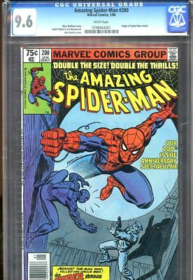 Amazing Spider-Man #200 (1980) No. 200 Cgc 9.6 White Pages Marvel Comics 1980