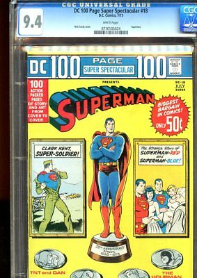 Dc 100 Page Super Spectacular #18 (1973) No. 18 Cgc 9.4 Dc Comics 1973