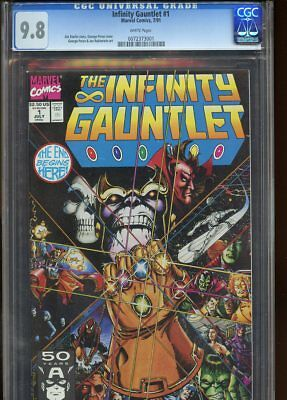 Infinity Gauntlet #1 (1991) No 1 Cgc 9.8 White Pages Marvel Comics 1991