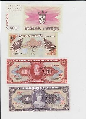 World Paper Money Collection 11 notes uncirculated