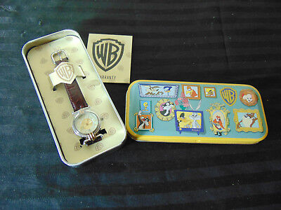 WARNER BROS BROTHERS FOSSIL LOONEY TUNES TWEETY BIRD WATCH /Used /In  Box