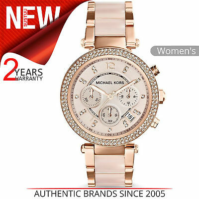 Michael Kors Parker Ladies Watch│Daimond Accent Chrono Dial│Rose Gold│MK5896