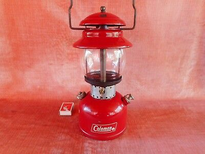 OLD VINTAGE 1968 RED COLEMAN No 200 PRESSURE  LANTERN LAMP ANTIQUE MADE CANADA