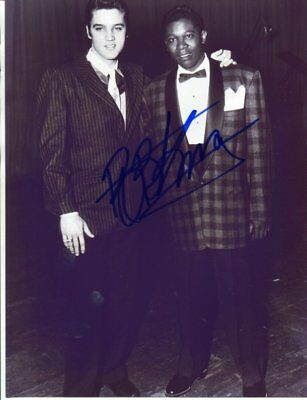 elvis presley with B.B. King signed autograph NO RESERVE B641