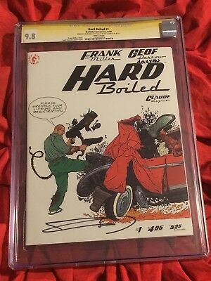 Cgc Ss 9.8~Hard Boiled #1~Signed By Frank Miller & Geoff Darrow~New Movie Soon~