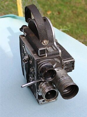 Vintage Bolex Paillard  H16 S 16Mm Movie Camera Lytar Elgeet Paillard  Lens