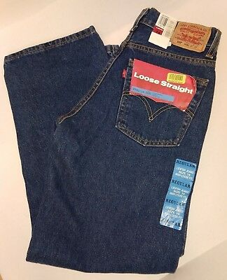 """**LEVI'S** 569 LOOSE STRAIGHT JEANS YOUTH SIZE 14 REGULAR (27""""x27"""")"""