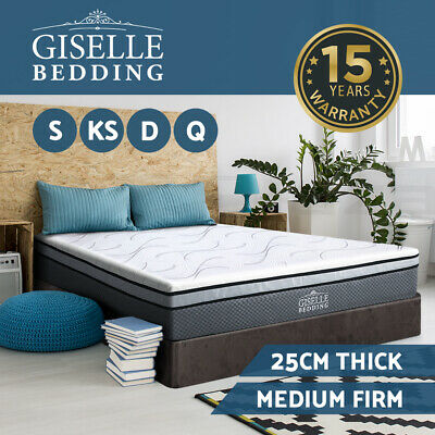 Memory Foam Mattress Queen Double King Single Size Bed Cool Gel Non Spring