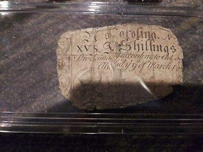 1754 North Carolina X2.  One fifteen shillings. I think the other is too