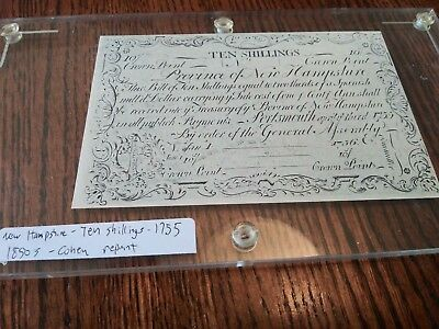 1755 New Hampshire Colonial Note Cohen Reprint