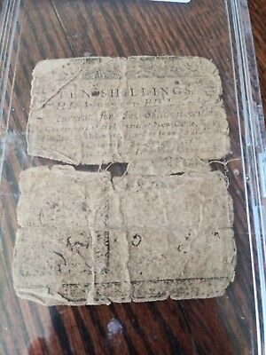 Ben Franklin Delaware Colonial Note 1759 Ten Shillings